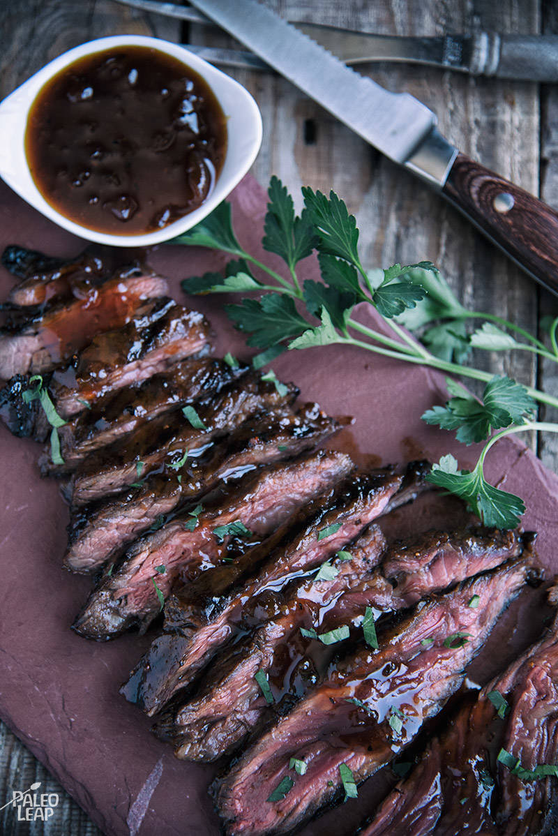 Grilled Steaks With Apricot Glaze Recipe