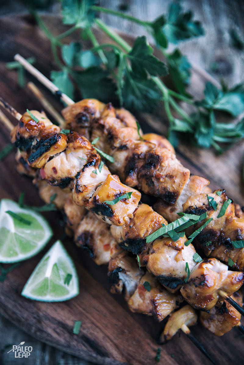 Key West Grilled Chicken Skewers Recipe