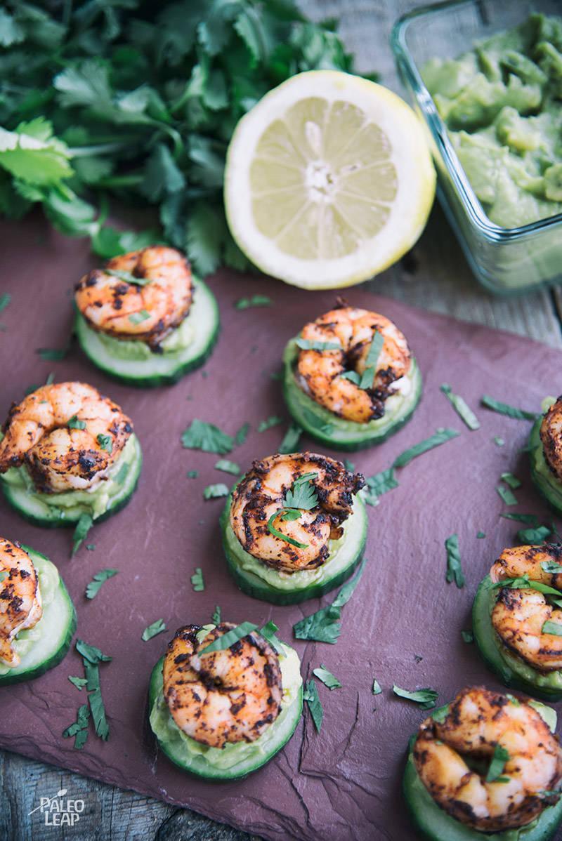 Shrimp Taco Cucumber Bites Recipe
