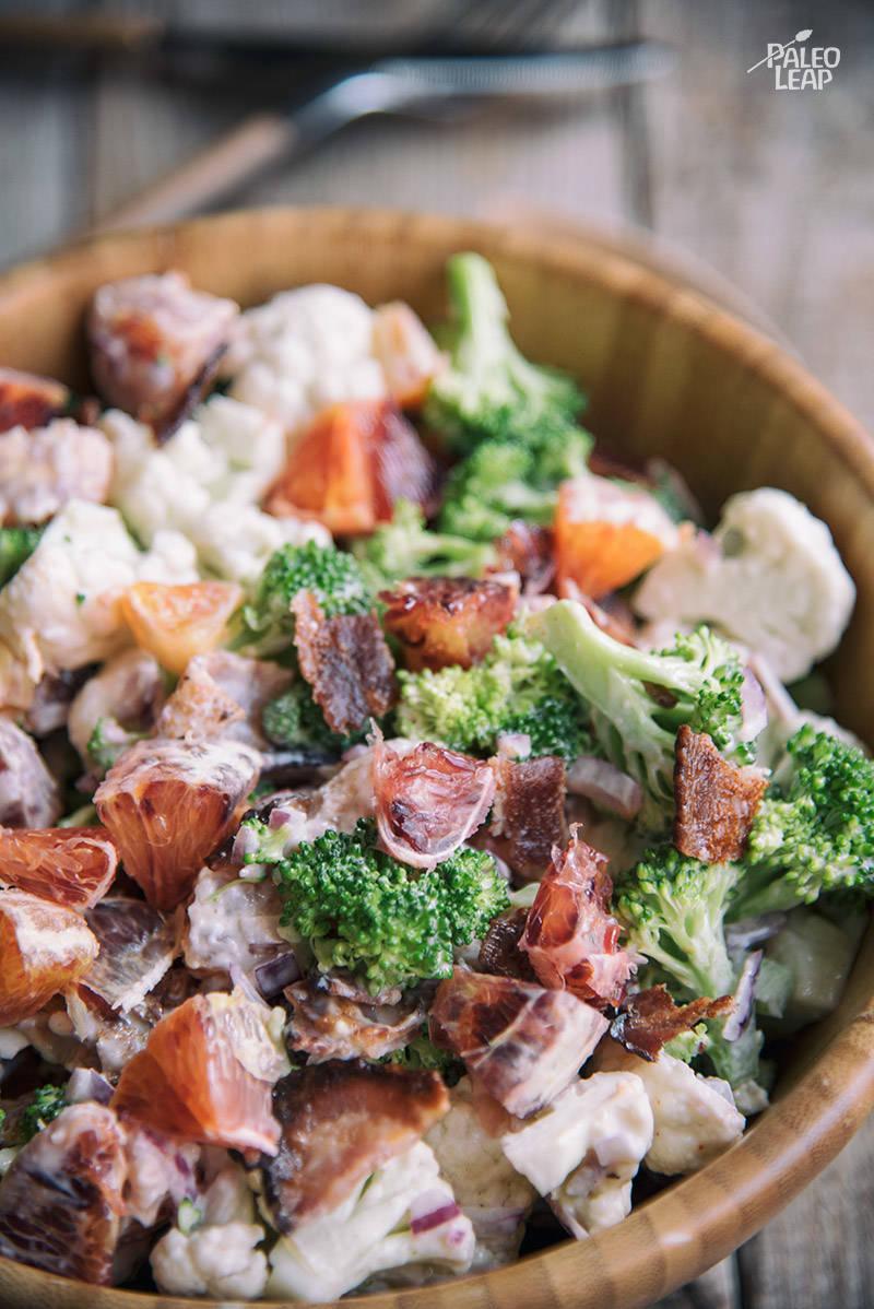 Broccoli, Cauliflower And Orange Salad Recipe