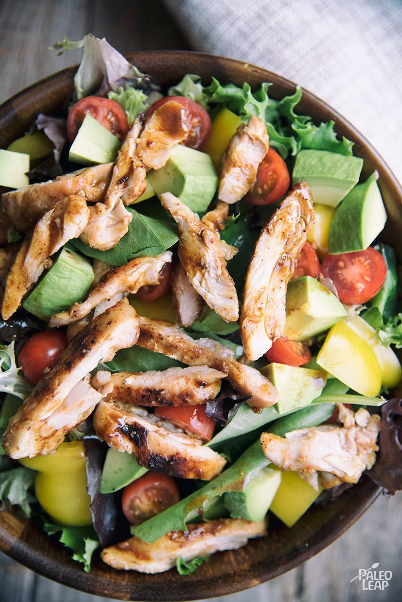 Orange Chicken With Simple Salad Paleo Leap