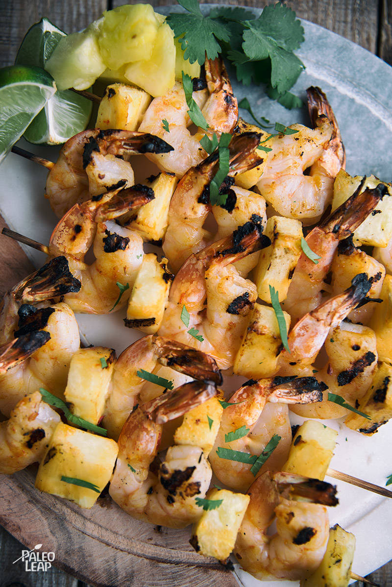 Sweet Chili Pineapple Shrimp Skewers Recipe