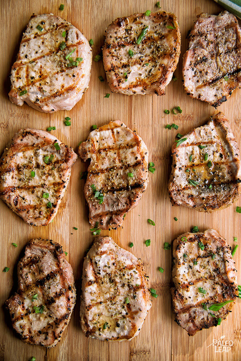 Grilled Garlic And Chive Pork Chops Recipe