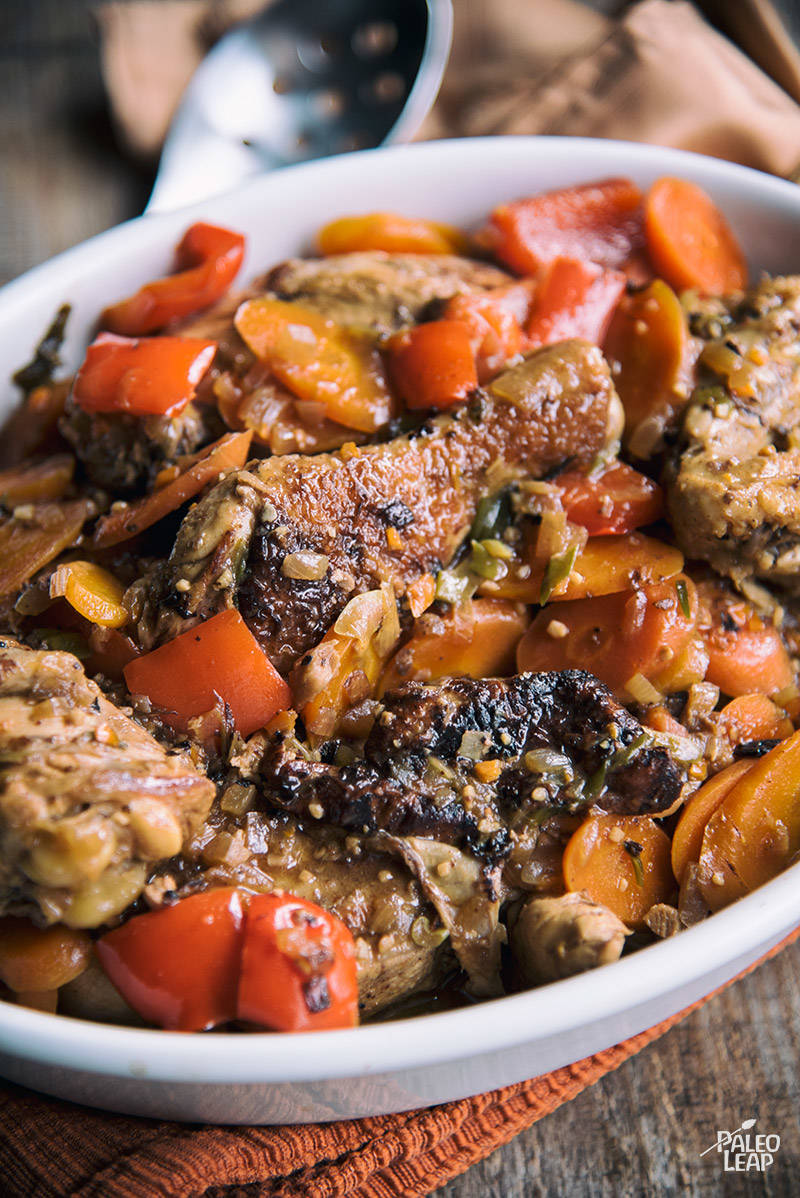 Jamaican-Style Brown Chicken Stew Recipe