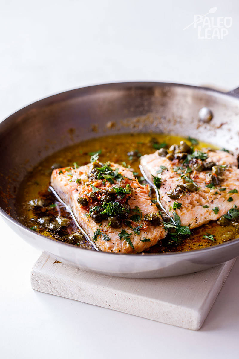 Salmon with Lemon-Butter and Capers
