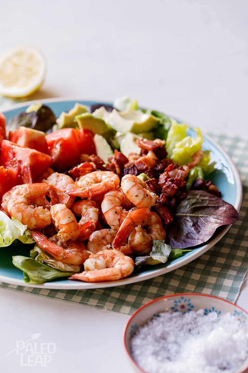 Shrimp, Bacon and Avocado Salad