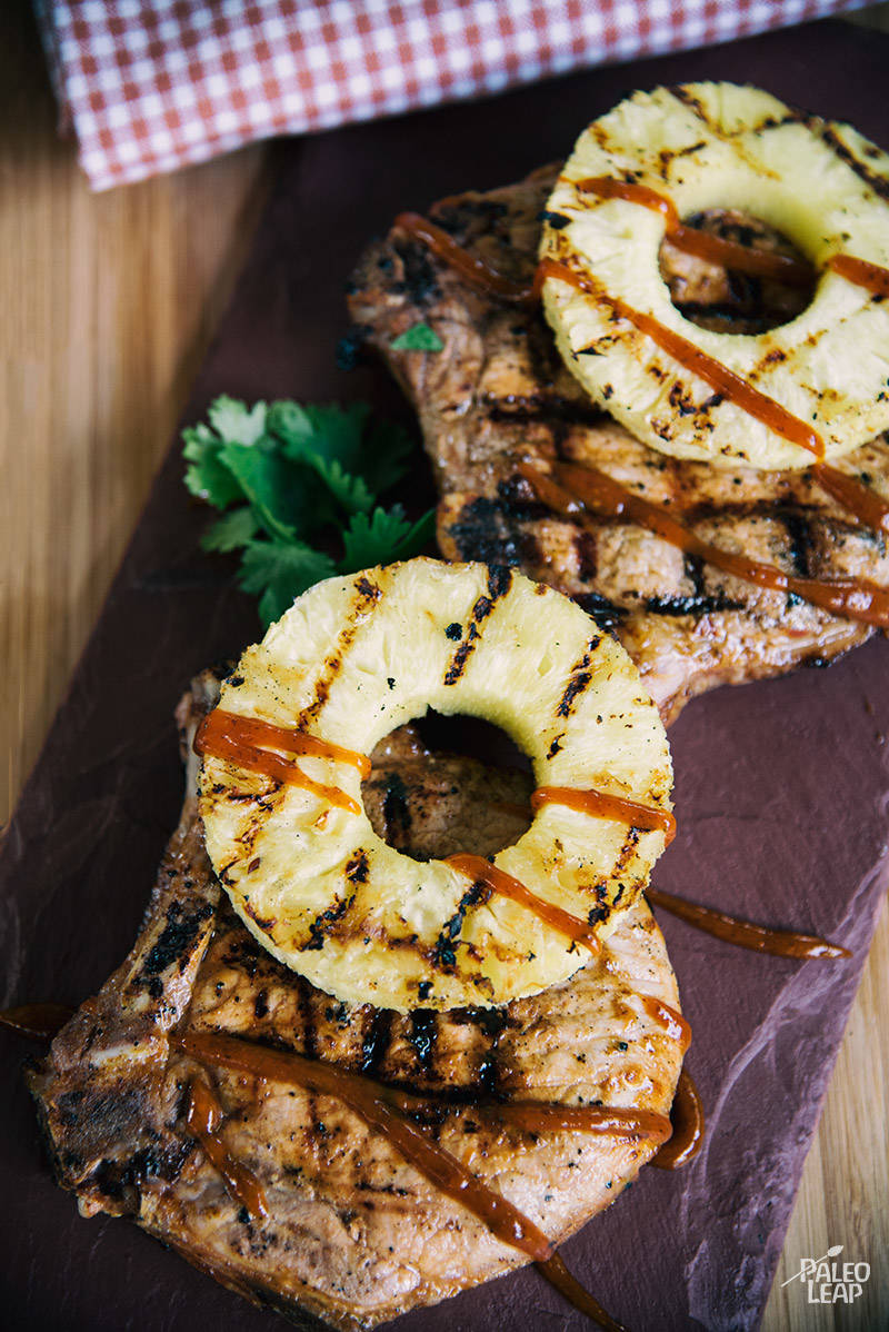 Grilled Hawaiian Style Pork Chops