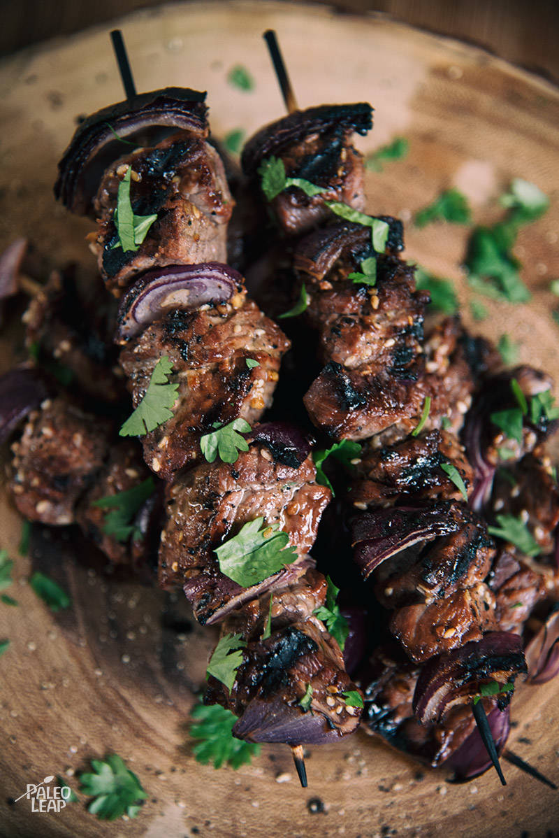Grilled Asian-Balsamic Steak Skewers Recipe