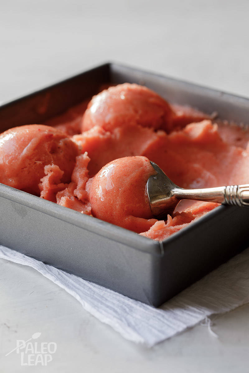 Mango and Strawberry Sorbet