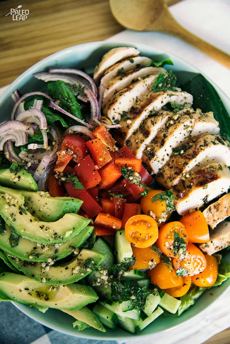 Chicken Salad With Herb Dressing