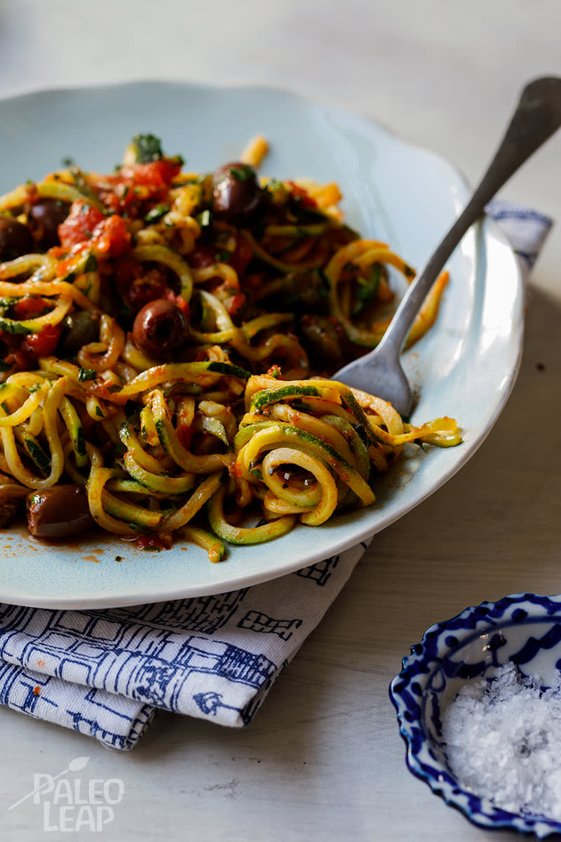Paleo Zoodle Puttanesca