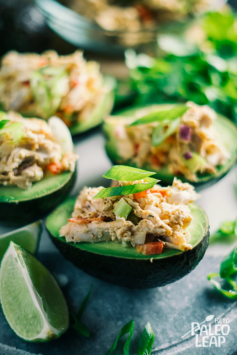 Keto Chicken Salad Stuffed Avocado