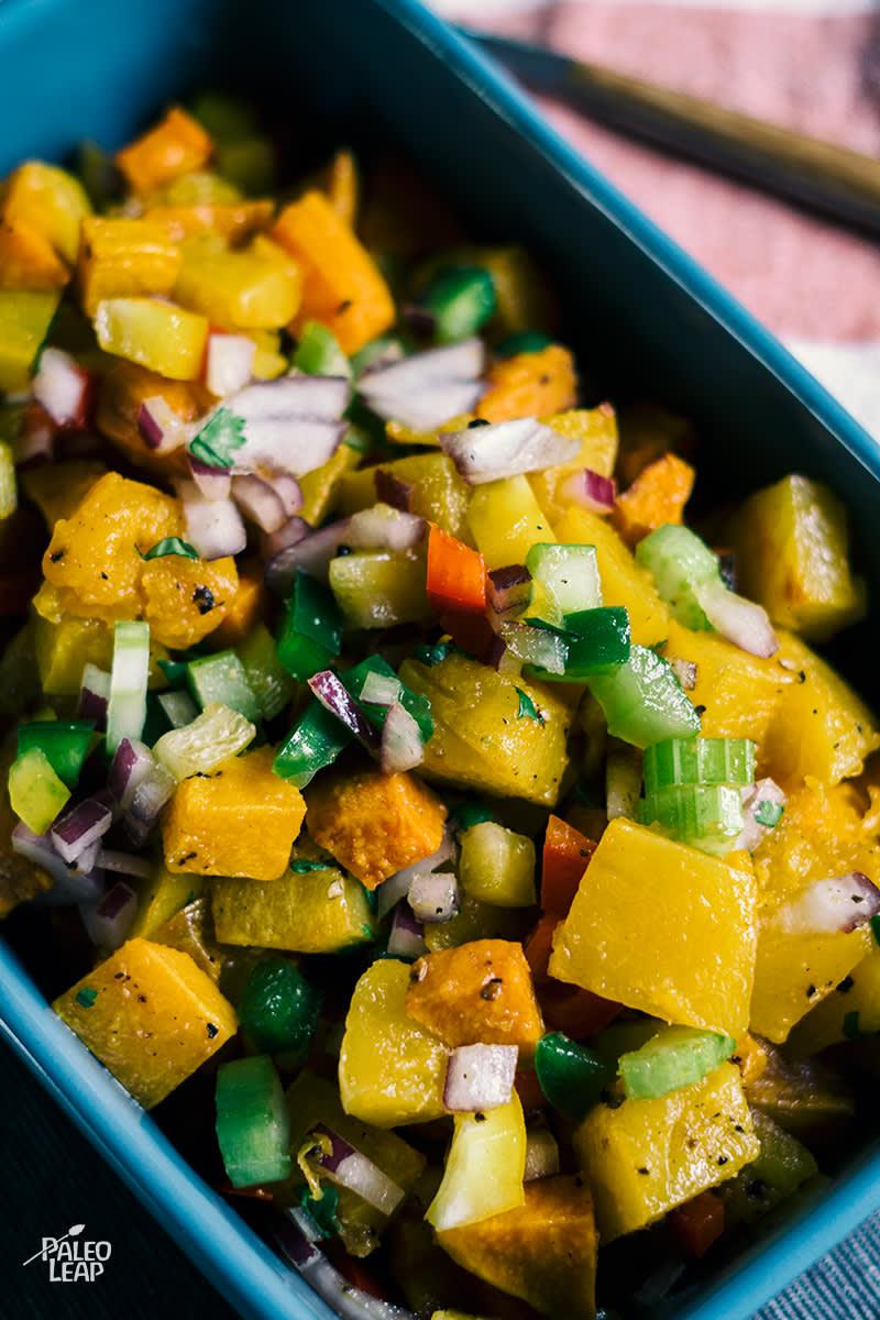 Roasted Sweet Potato Vegetable Salad