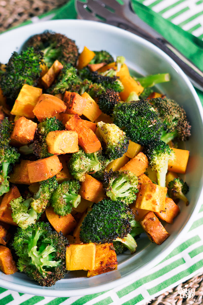 Oven Roasted Broccoli And Squash
