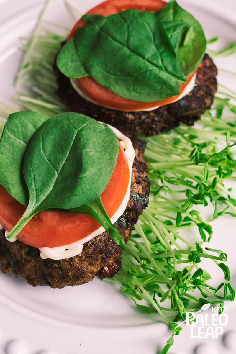 Keto Greek-Style Burgers