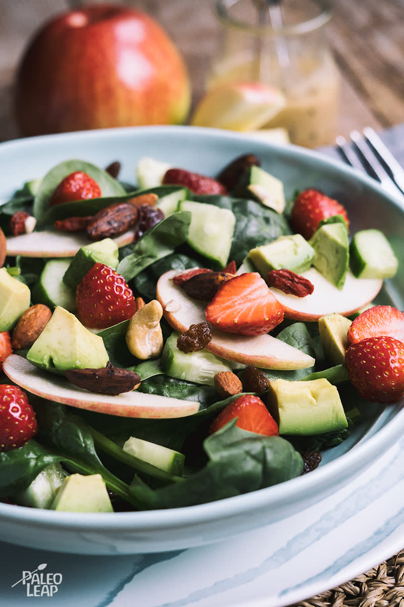 Strawberry, Apple And Avocado Salad