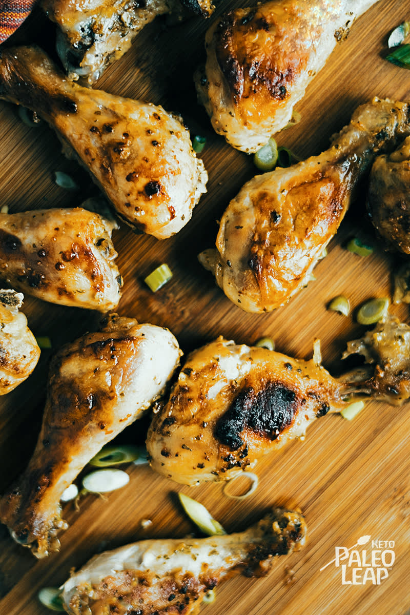 Keto Garlic And Dijon Chicken Drumsticks