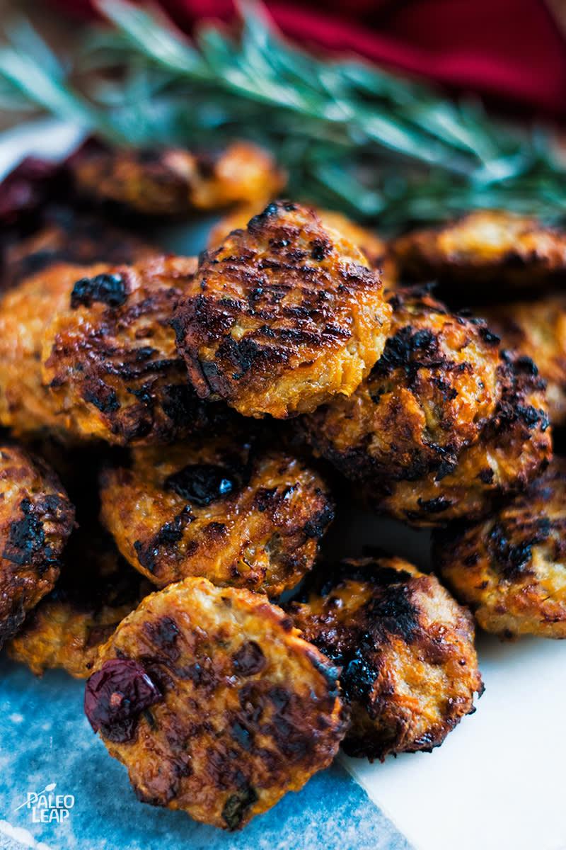 Turkey, Cranberry and Sweet Potato Bites