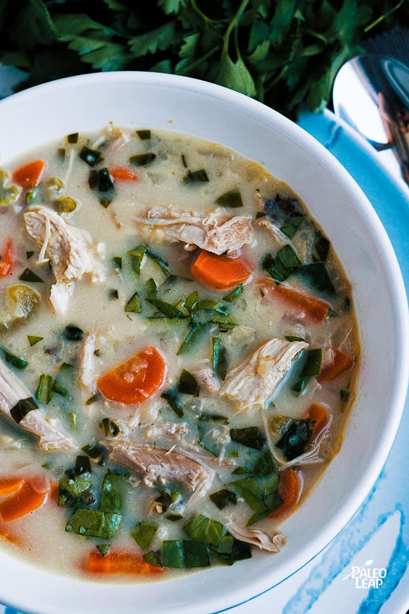 Creamy Leftover Turkey Soup