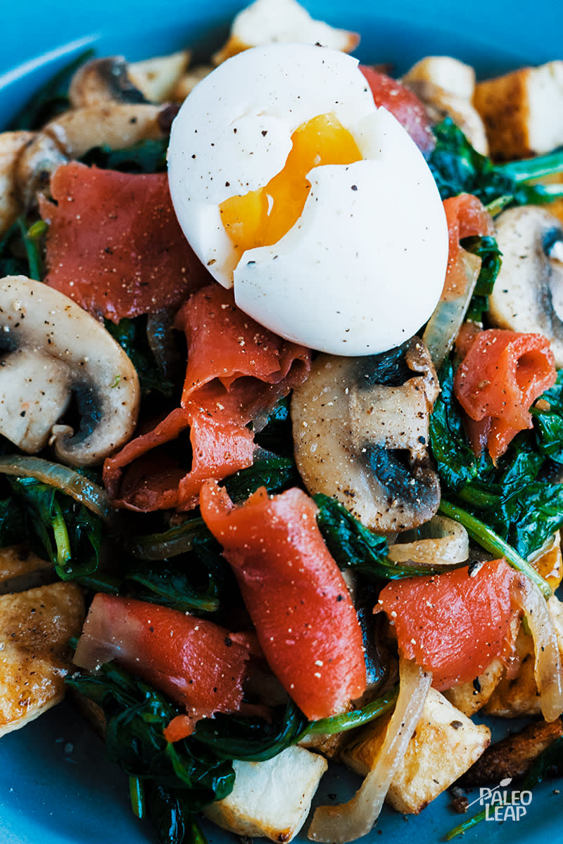 Smoked Salmon And Spinach Breakfast