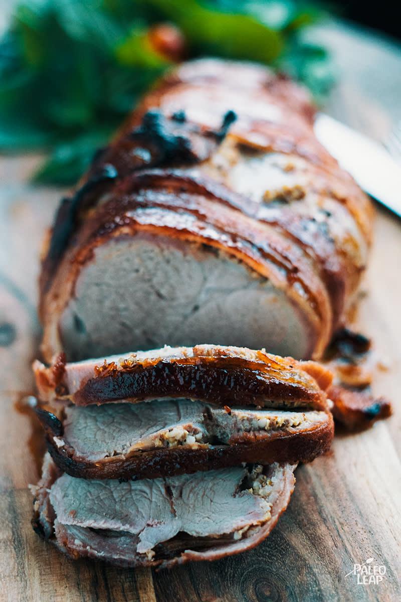 Honey-Dijon Bacon Wrapped Tenderloin