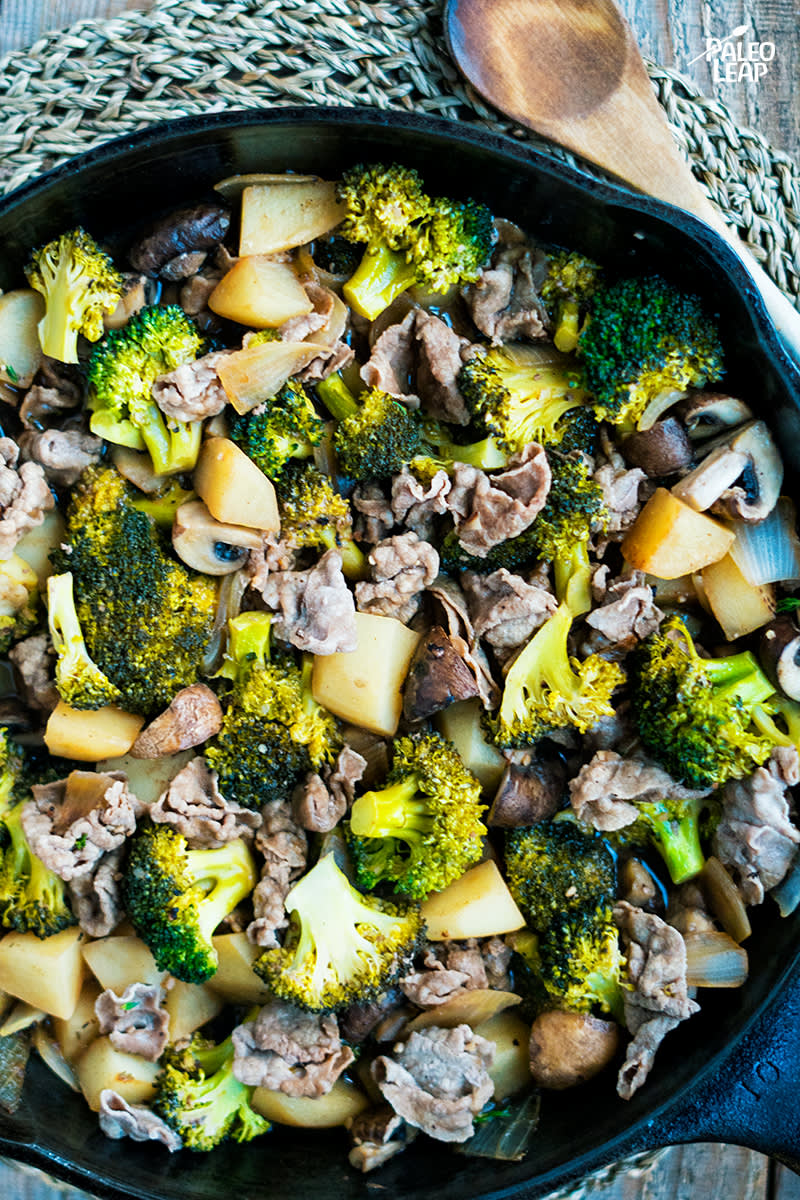 Beef, Broccoli And Potato Skillet