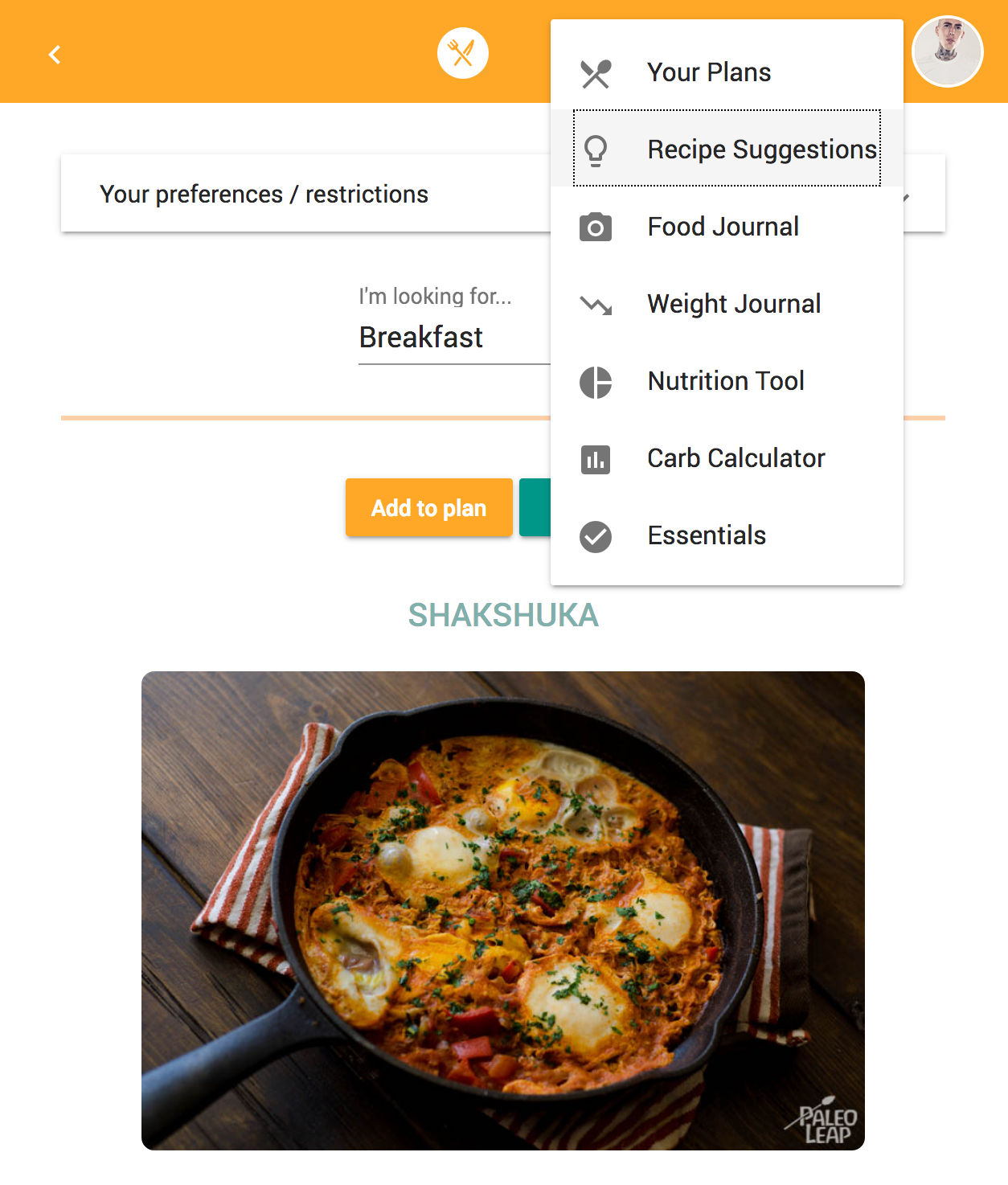 Paleo leap meal planner getting started adding and finding meals forumfinder Gallery