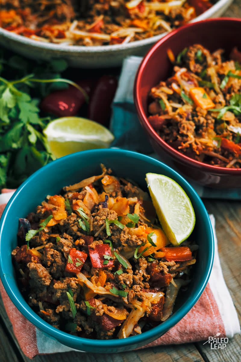 Mexican-Style Beef Cabbage Skillet