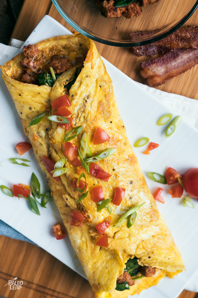 Chorizo And Spinach Omelette