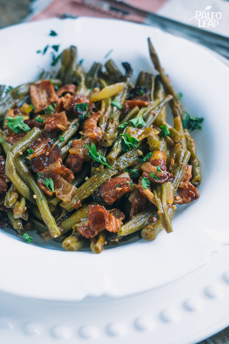 Slow Cooker BBQ Bacon Green Beans