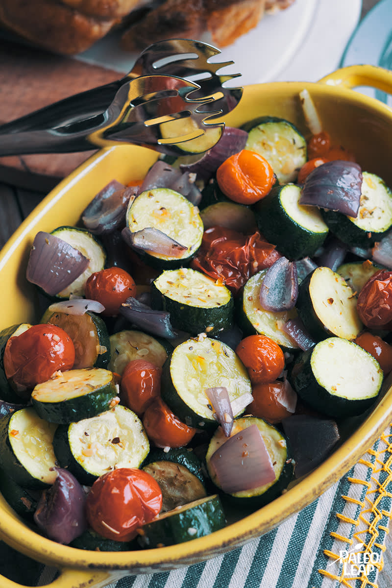 Roasted Italian Zucchini And Tomatoes