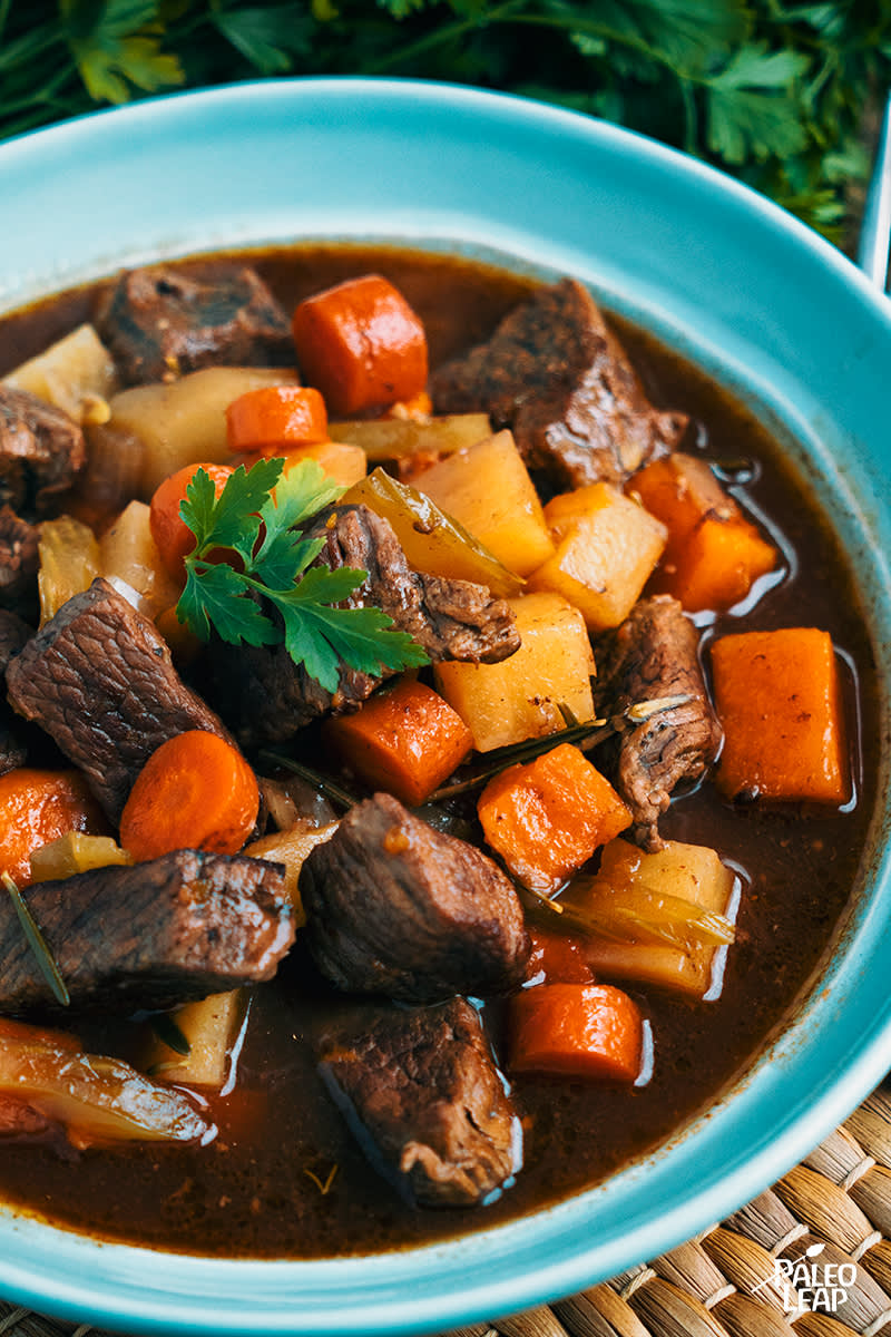Slow Cooker Beef And Rutabaga Stew