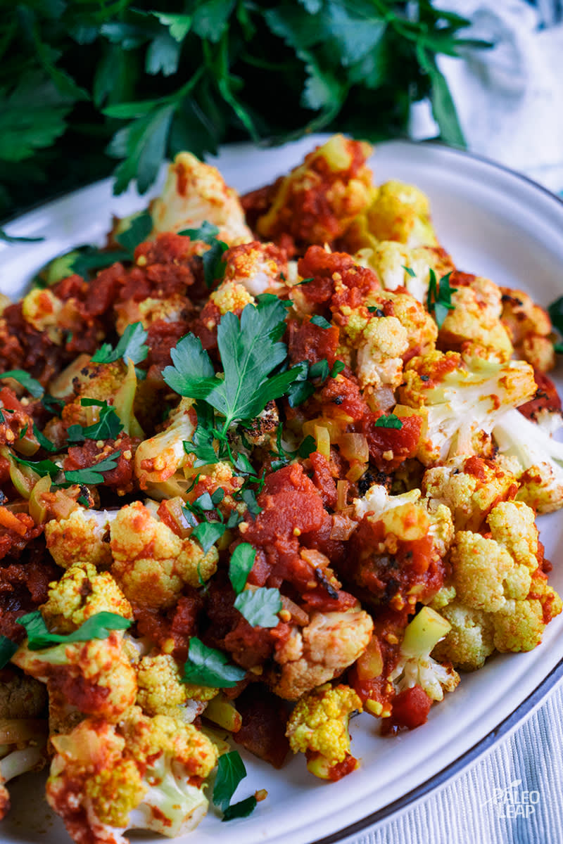 Curry Cauliflower and Tomatoes