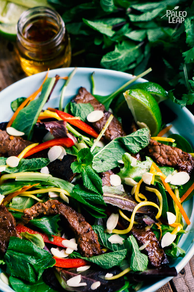 Vietnamese-Style Beef And Mango Salad