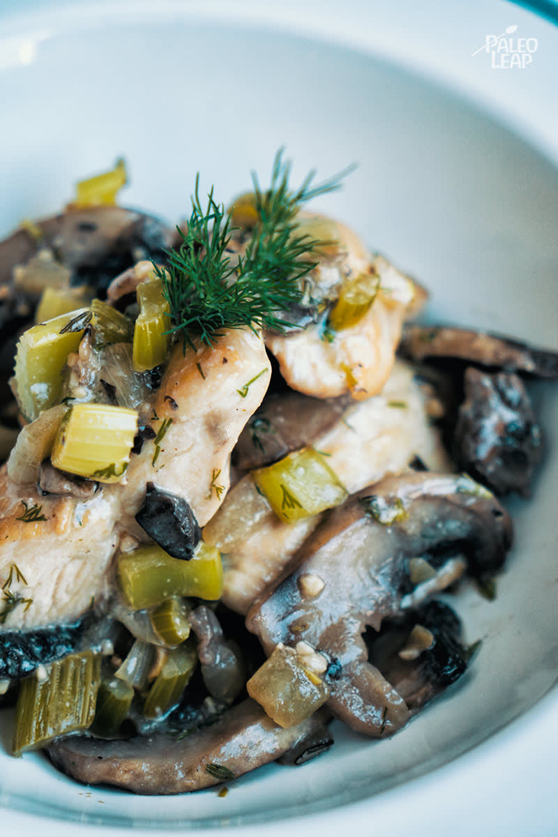 Country Style Chicken And Mushrooms