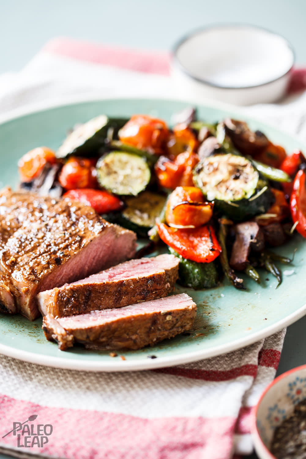 Garlic-Lime Steaks With Roasted Vegetables