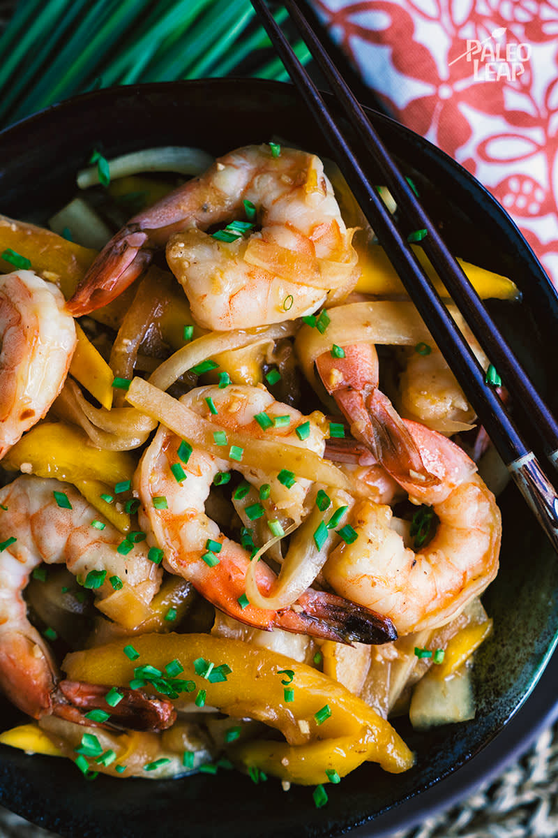 Paleo Hoisin Shrimp And Mango