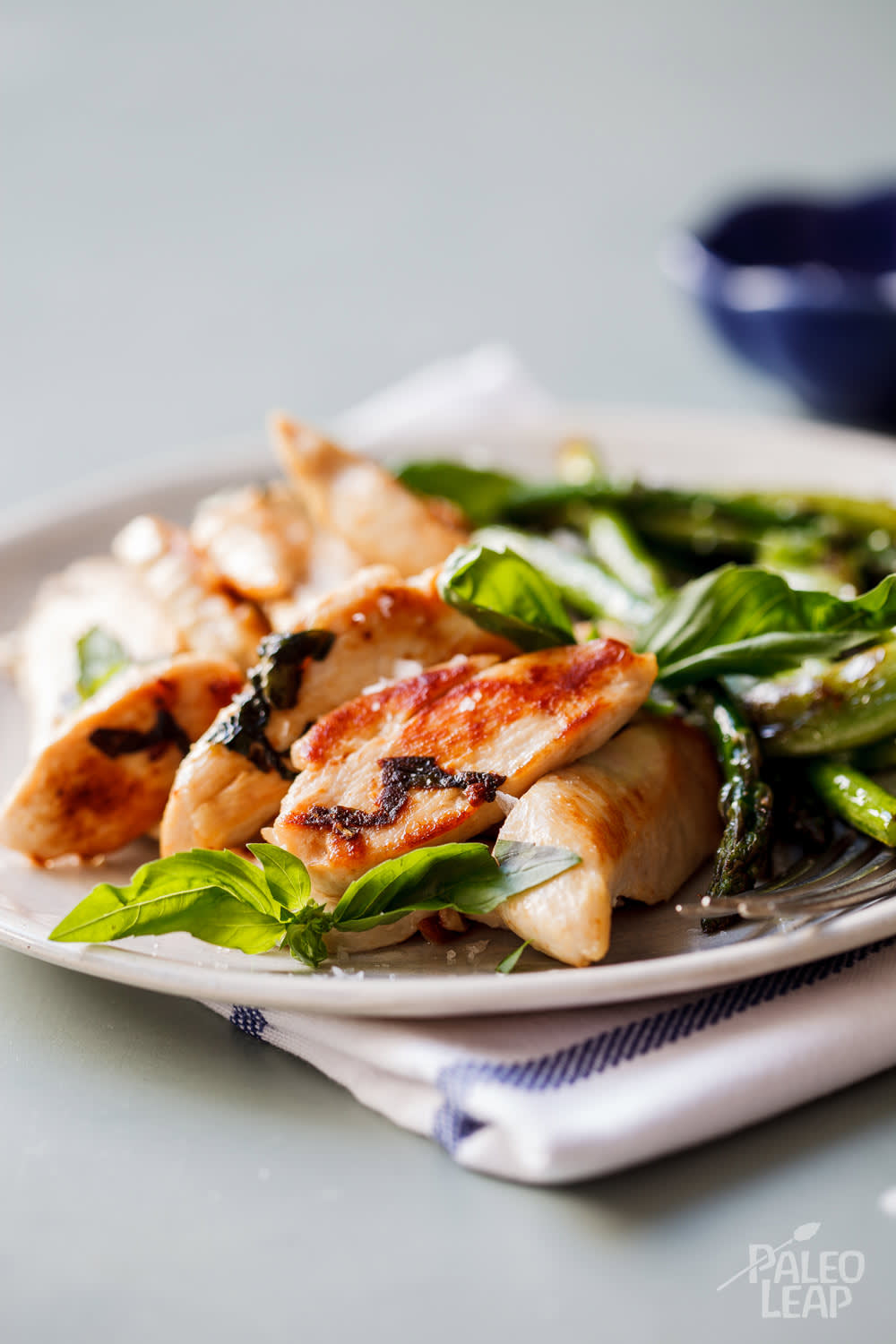 One-Pan Basil Chicken With Spring Vegetables