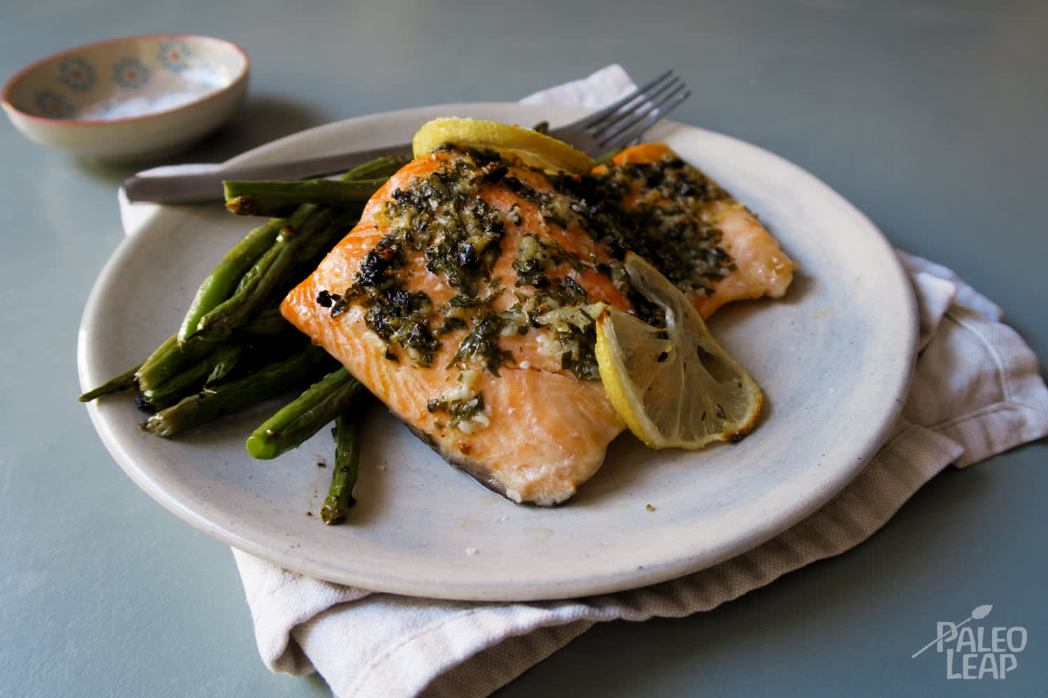Lemon-Garlic Baked Salmon