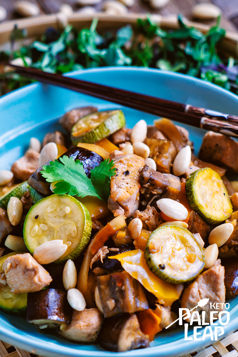 Keto Slow Cooker Kung-Pao Chicken