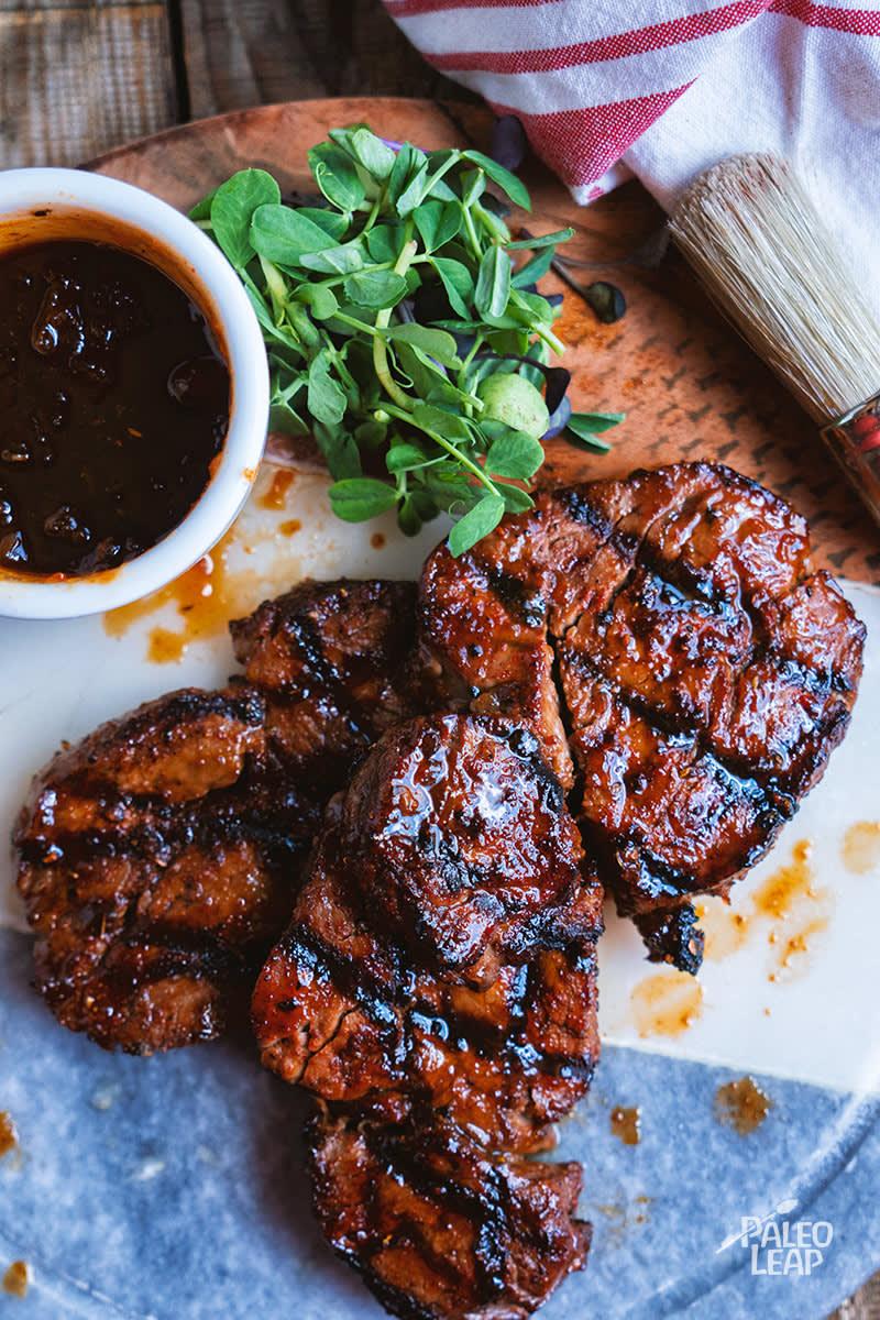 Cajun-Style Steak With Spicy Mango Glaze