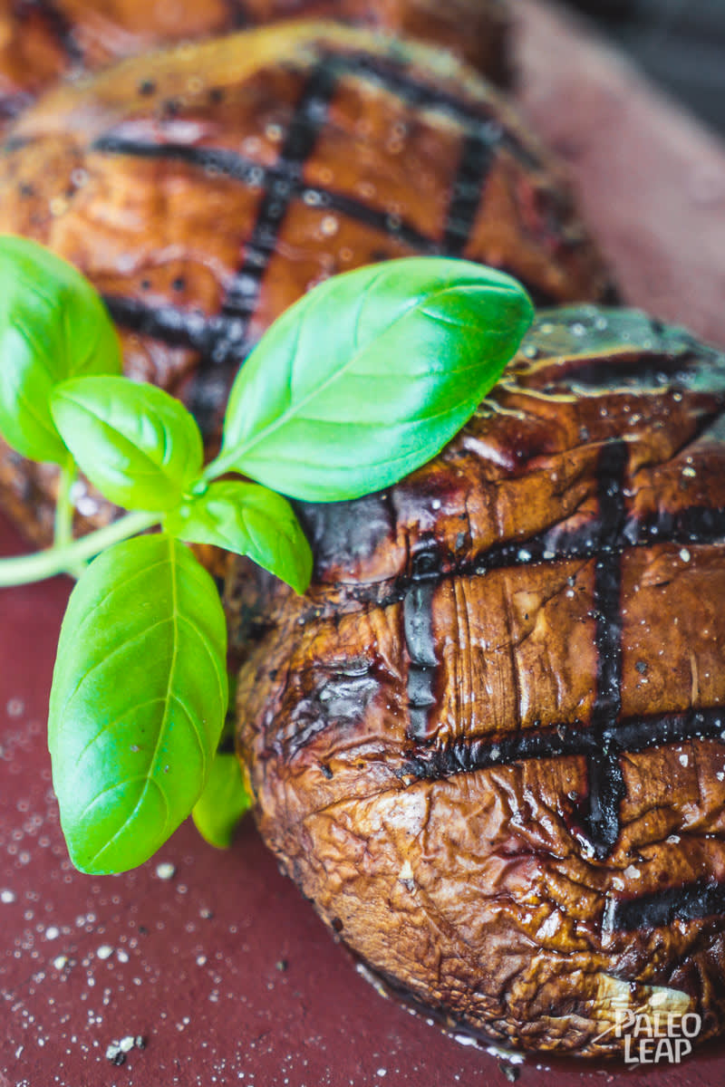 Grilled Balsamic Glazed Portobello Mushrooms Paleo Leap