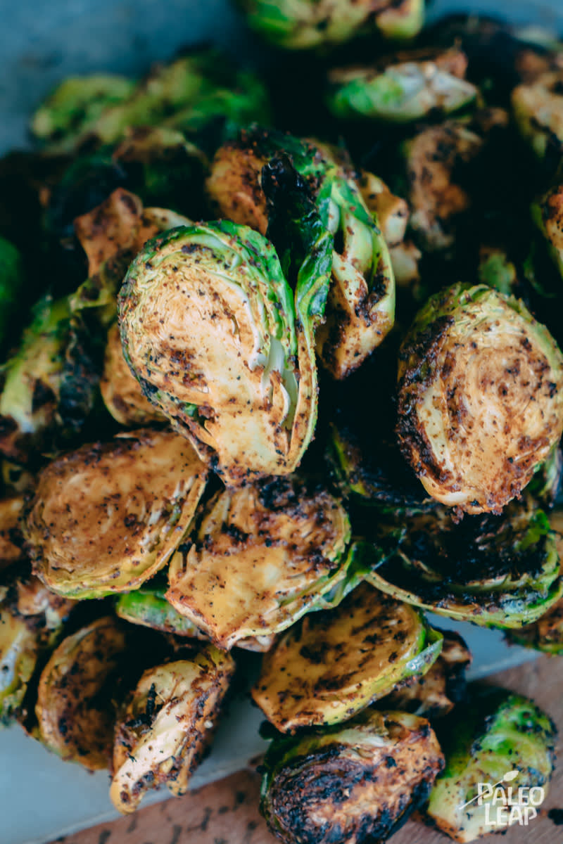 Grilled Paprika Brussels Sprouts