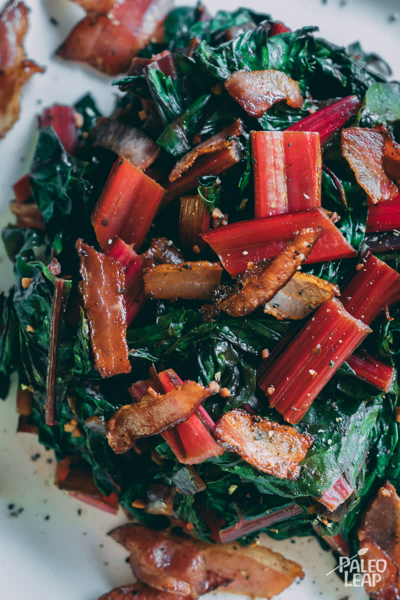 Sautéed Swiss Chard and Bacon