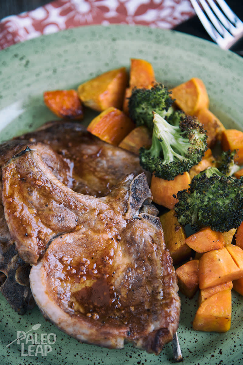Oven Baked Pork Chops With Roasted Sweet Potatoes