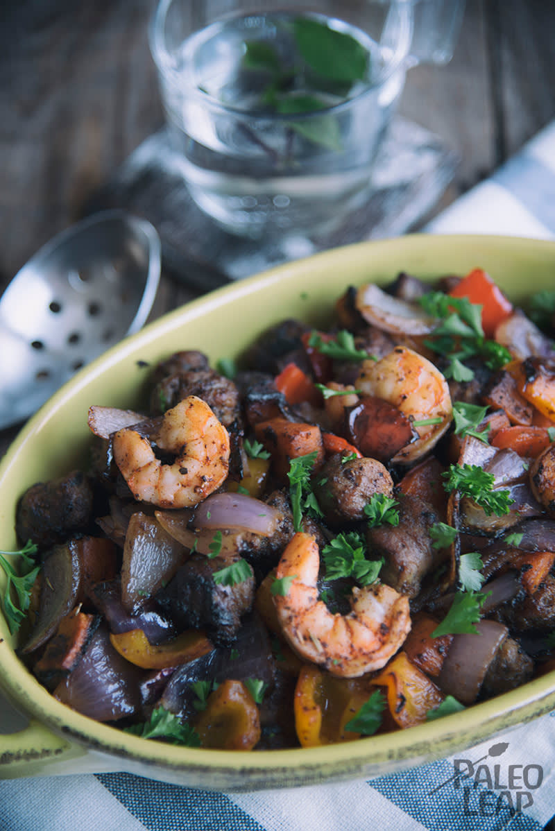 Shrimp And Sausage Cajun Skillet