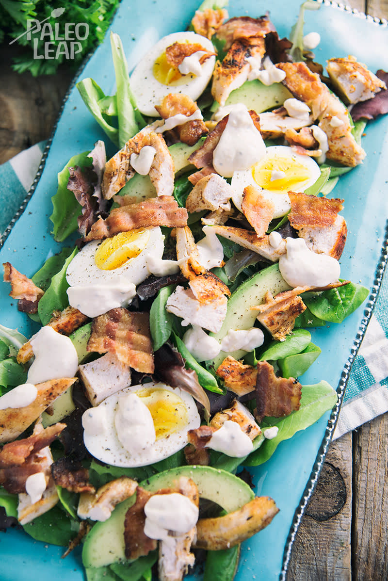 Keto Chicken And Bacon Loaded Salad