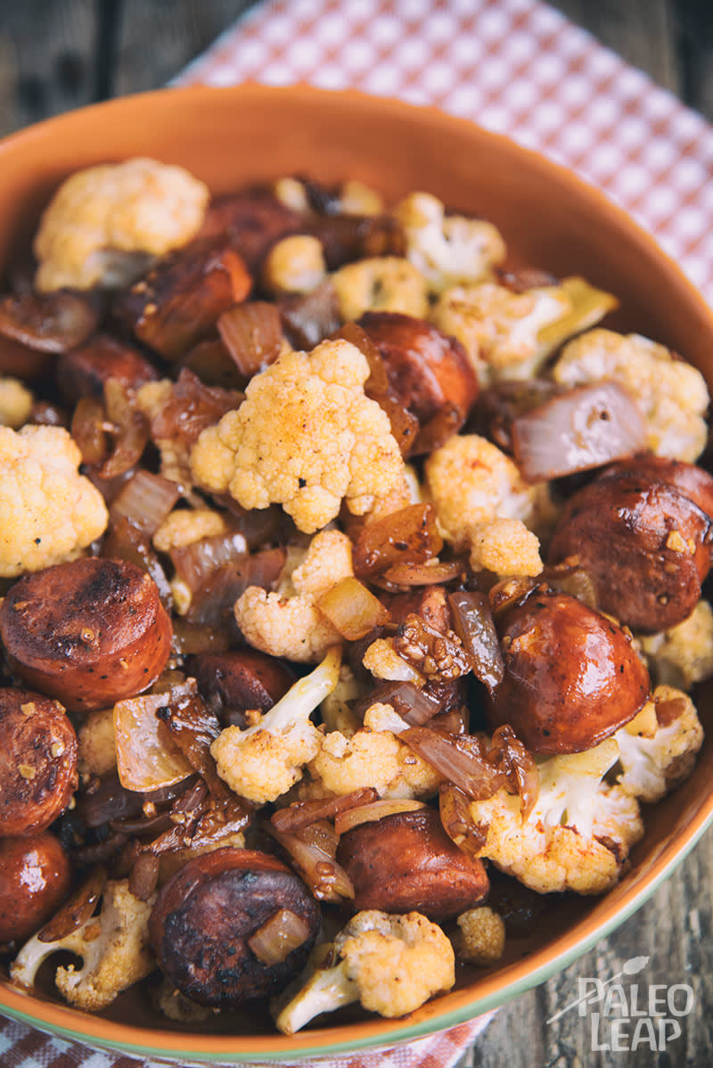Sausage And Cauliflower Stir-Fry