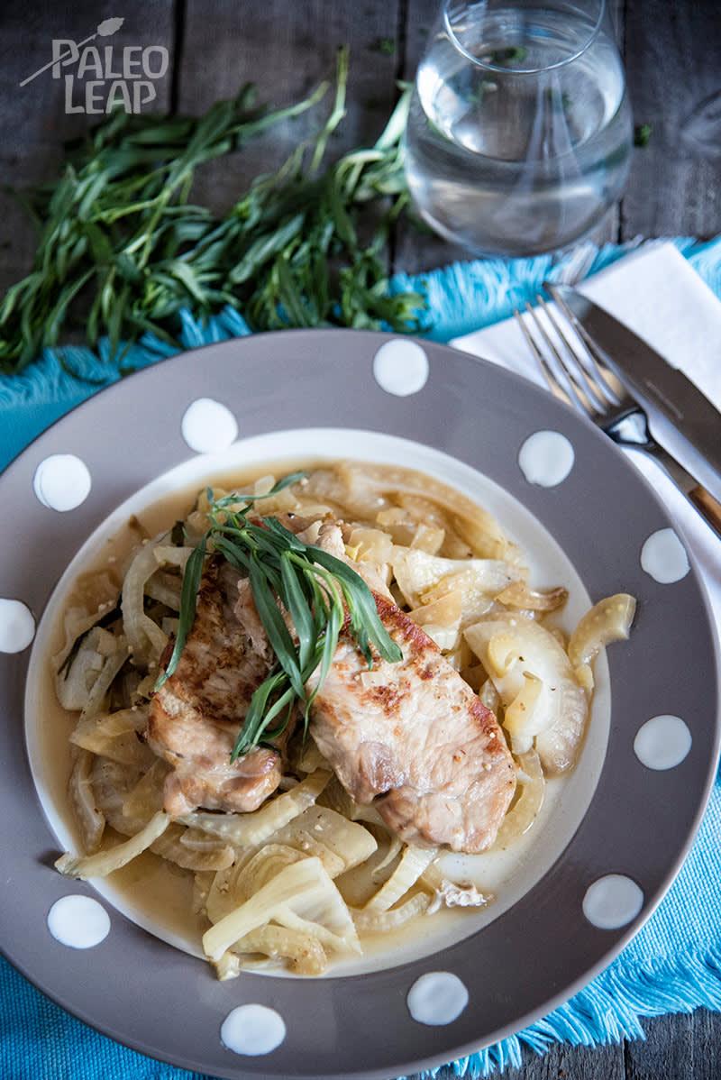 Tarragon-Lemon Roasted Pork Chops