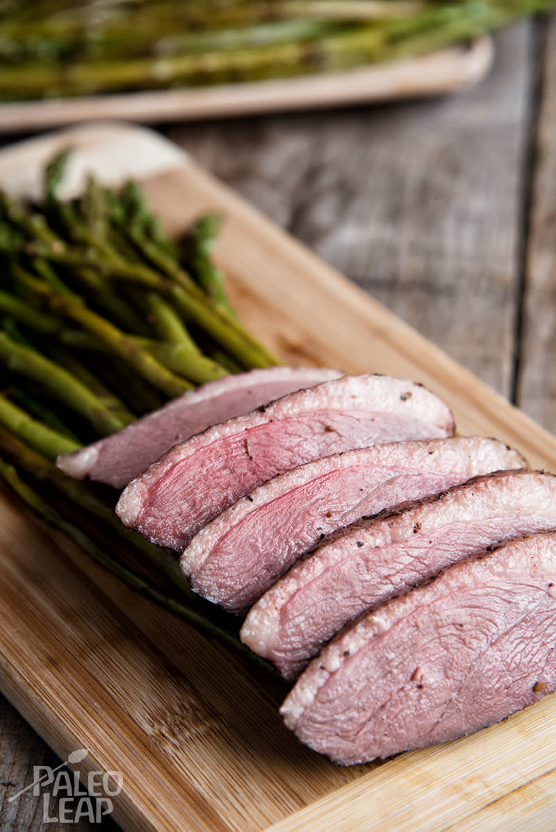 Duck Breast And Balsamic Asparagus